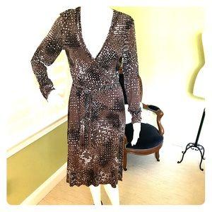 Greatest Dress Ever... it's a mock wrap dress.